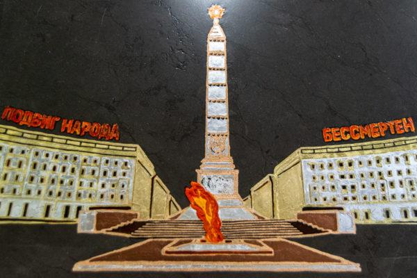 Сувенир (подарок) из натурального камня Площадь победы в Минске № 2, изображение, фото 3