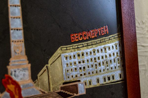 Сувенир (подарок) из натурального камня Площадь победы в Минске № 2, изображение, фото 5