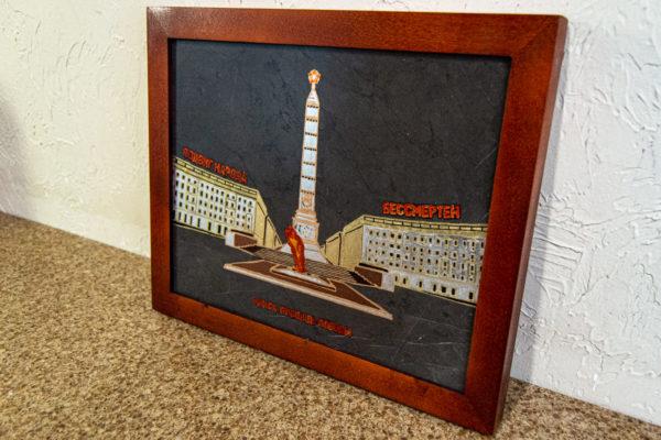 Сувенир (подарок) из натурального камня Площадь победы в Минске № 2, изображение, фото 7