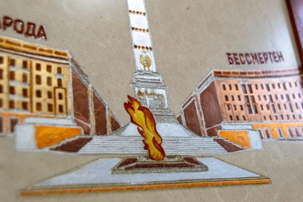 Сувенир (подарок) из натурального камня Площадь победы в Минске № 1, изображение, фото 6