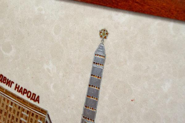Сувенир (подарок) из натурального камня Площадь победы в Минске № 1, изображение, фото 8