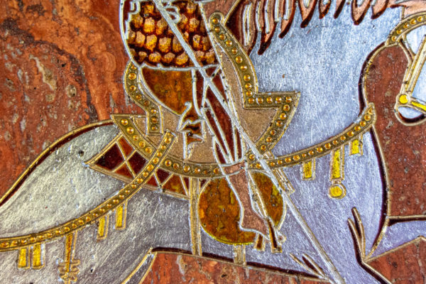 Икона Святого Георгия Победоносца № 03 из мрамора на коне, каталог, изображение, фото 9