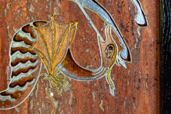 Икона Святого Георгия Победоносца № 03 из мрамора на коне, каталог, изображение, фото 11