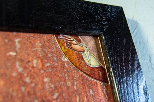 Икона Святого Георгия Победоносца № 03 из мрамора на коне, каталог, изображение, фото 1