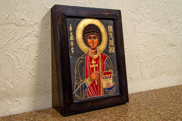 Икона Святой великомученицы Святого Пантелеймона № 1 из мрамора, камня, изображение, фото 2