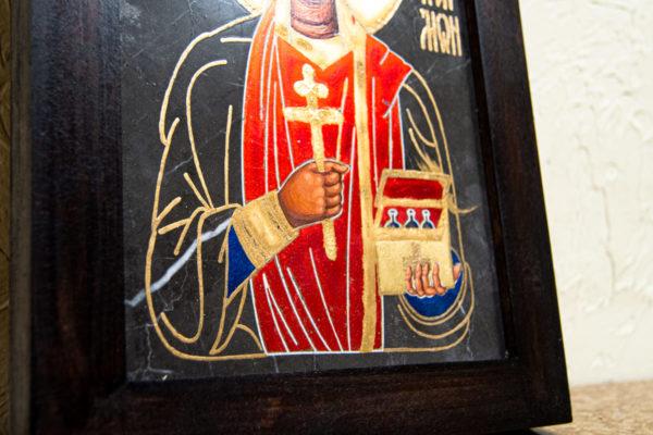 Икона Святой великомученицы Святого Пантелеймона № 1 из мрамора, камня, изображение, фото 4