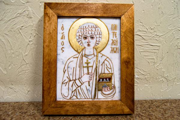 Икона Святой великомученицы Святого Пантелеймона № 2 из мрамора, камня, изображение, фото 2