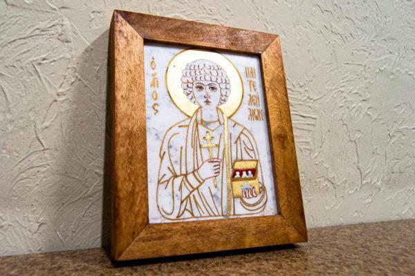 Икона Святой великомученицы Святого Пантелеймона № 2 из мрамора, камня, изображение, фото 3