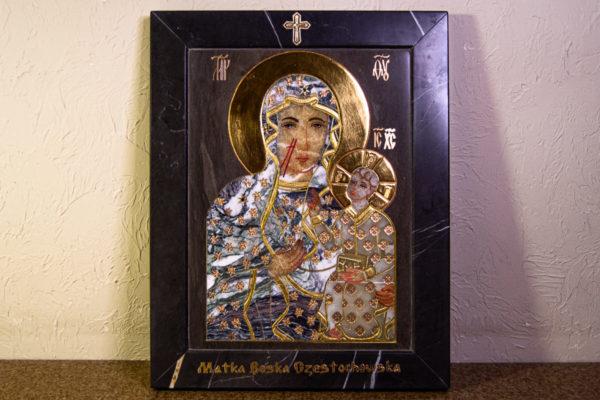 Икона Ченстоховской Божией Матери № 1-12,8 из мрамора, каталог икон, изображение, фото 14