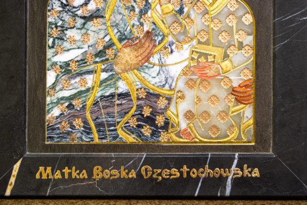 Икона Ченстоховской Божией Матери № 1-12,8 из мрамора, каталог икон, изображение, фото 11
