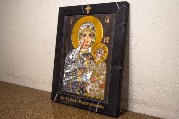 Икона Ченстоховской Божией Матери № 1-12,8 из мрамора, каталог икон, изображение, фото 12