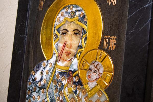 Икона Ченстоховской Божией Матери № 1-12,8 из мрамора, каталог икон, изображение, фото 13