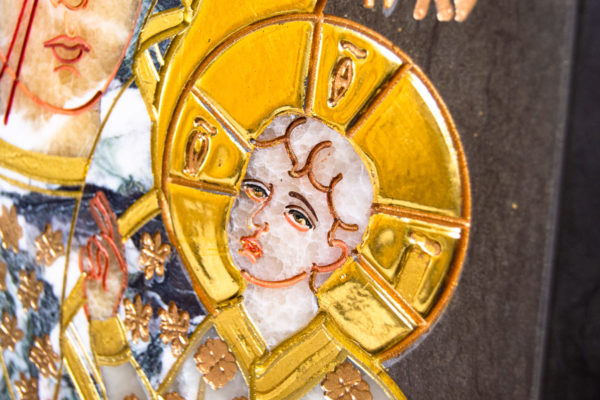 Икона Ченстоховской Божией Матери № 1-12,8 из мрамора, каталог икон, изображение, фото 6