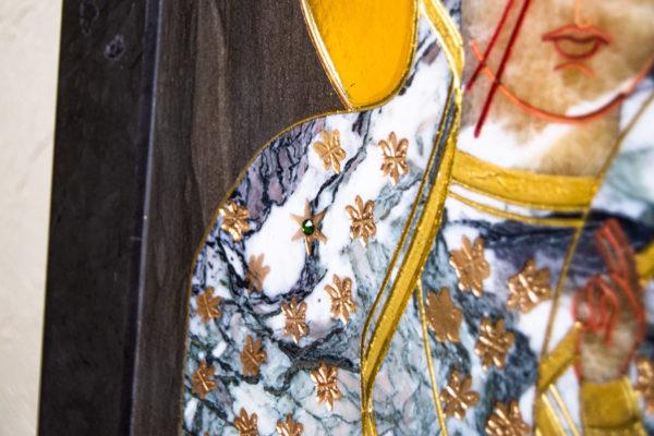Икона Ченстоховской Божией Матери № 1-12,8 из мрамора, каталог икон, изображение, фото 8