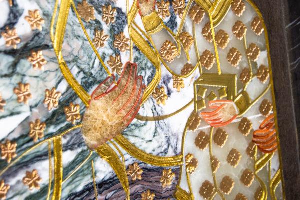 Икона Ченстоховской Божией Матери № 1-12,8 из мрамора, каталог икон, изображение, фото 3