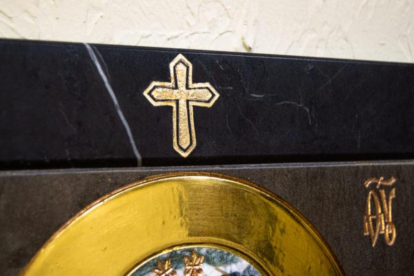 Икона Ченстоховской Божией Матери № 1-12,8 из мрамора, каталог икон, изображение, фото 4