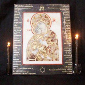 Икона Владимирской Божией Матери № 11 из мрамора, камня, от Гливи, фото 1