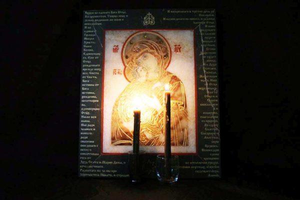 Икона Владимирской Божией Матери № 11 из мрамора, камня, от Гливи, фото 2