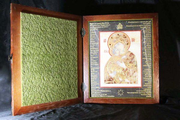 Икона Владимирской Божией Матери № 11 из мрамора, камня, от Гливи, фото 4
