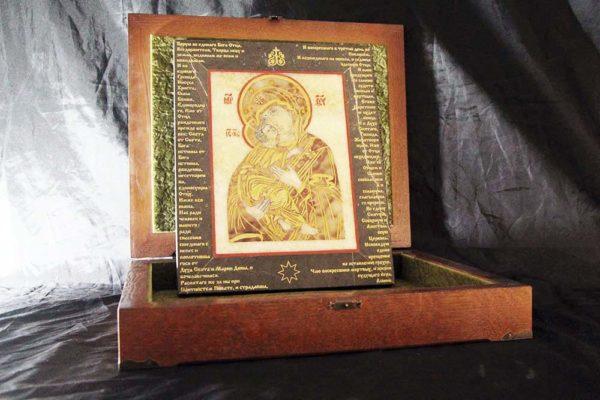 Икона Владимирской Божией Матери № 11 из мрамора, камня, от Гливи, фото 5