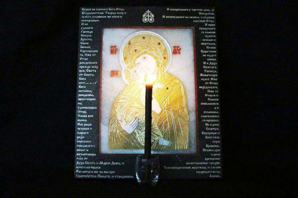 Икона Владимирской Божией Матери № 10 из мрамора, камня, от Гливи, фото 3