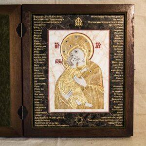 Икона Владимирской Божией Матери № 12 из мрамора, камня, от Гливи, фото 1