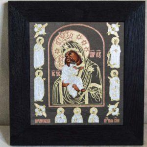 Икона Почаевской Божией Матери № 02 из мрамора, камня, изображение, фото 1