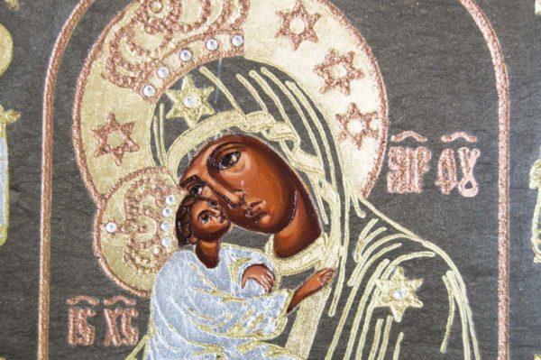 Икона Почаевской Божией Матери № 02 из мрамора, камня, изображение, фото 2