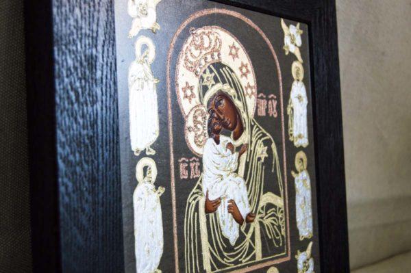 Икона Почаевской Божией Матери № 02 из мрамора, камня, изображение, фото 3
