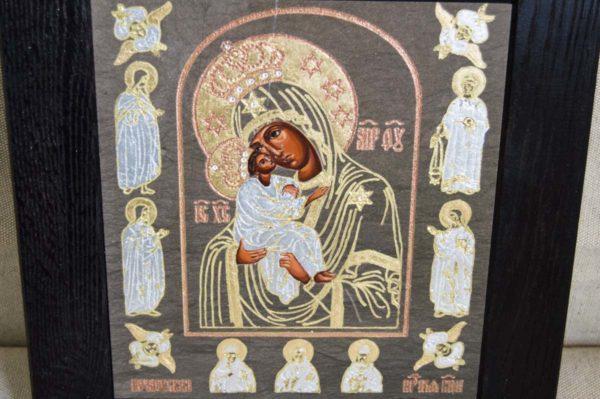 Икона Почаевской Божией Матери № 02 из мрамора, камня, изображение, фото 4