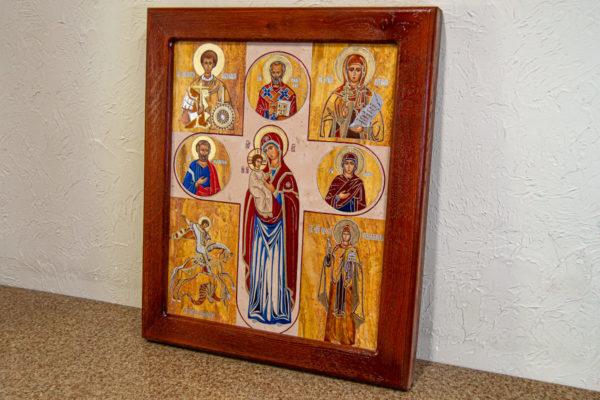 Икона Купятицкой Божией Матери из камня храмовая, аналойная икона, изображение, фото 2