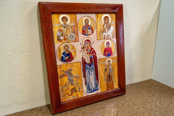 Икона Купятицкой Божией Матери из камня храмовая, аналойная икона, изображение, фото 3