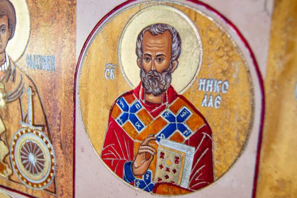 Икона Купятицкой Божией Матери из камня храмовая, аналойная икона, изображение, фото 5