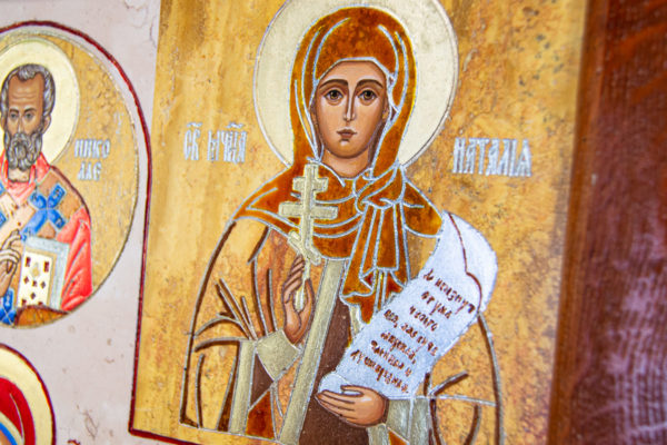 Икона Купятицкой Божией Матери из камня храмовая, аналойная икона, изображение, фото 6