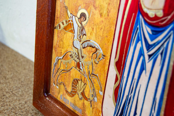 Икона Купятицкой Божией Матери из камня храмовая, аналойная икона, изображение, фото 7