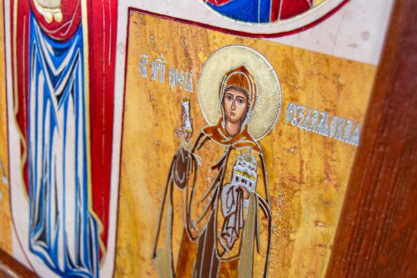 Икона Купятицкой Божией Матери из камня храмовая, аналойная икона, изображение, фото 8