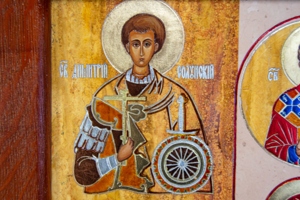 Икона Купятицкой Божией Матери из камня храмовая, аналойная икона, изображение, фото 9