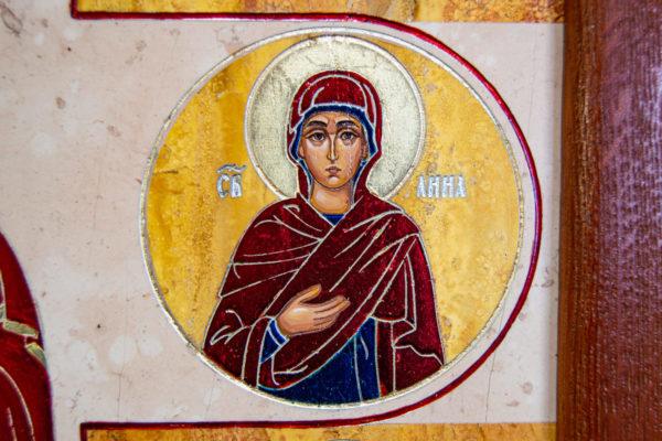 Икона Купятицкой Божией Матери из камня храмовая, аналойная икона, изображение, фото 10