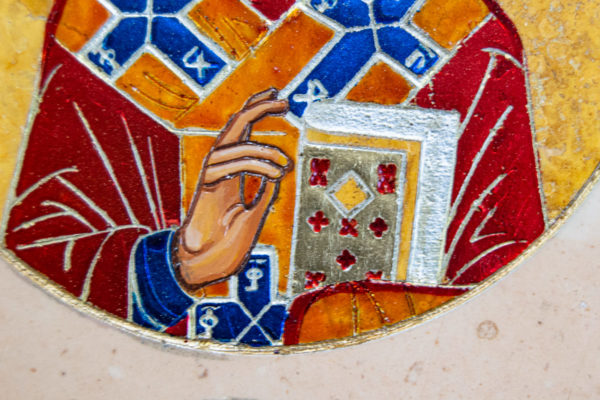Икона Купятицкой Божией Матери из камня храмовая, аналойная икона, изображение, фото 11