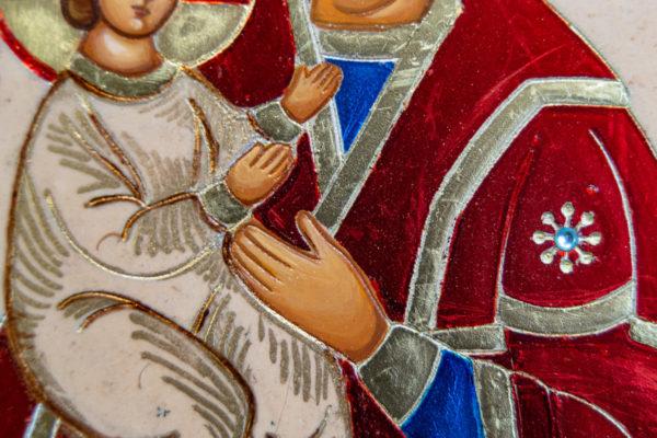 Икона Купятицкой Божией Матери из камня храмовая, аналойная икона, изображение, фото 12