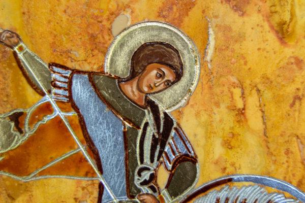 Икона Купятицкой Божией Матери из камня храмовая, аналойная икона, изображение, фото 13