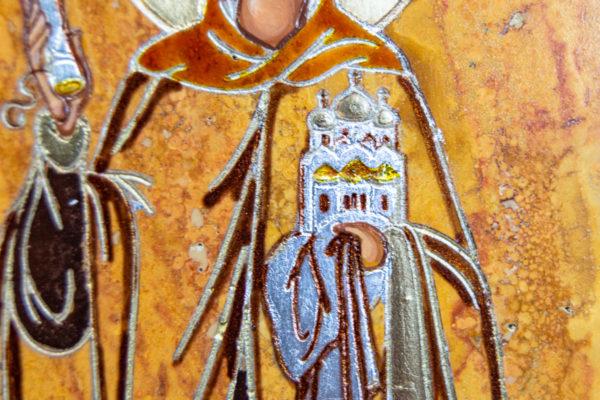 Икона Купятицкой Божией Матери из камня храмовая, аналойная икона, изображение, фото 14
