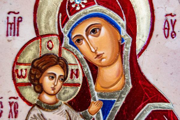 Икона Купятицкой Божией Матери из камня храмовая, аналойная икона, изображение, фото 16