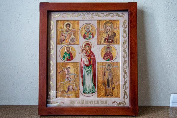 Икона Купятицкой Божией Матери № 02 из камня для храма, на аналой, изображение, фото 3