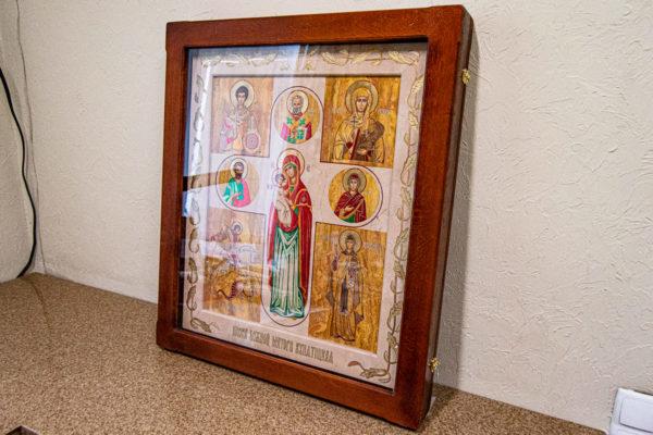 Икона Купятицкой Божией Матери № 02 из камня для храма, на аналой, изображение, фото 4