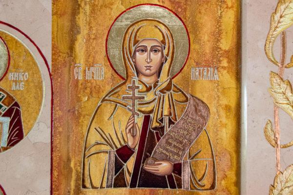 Икона Купятицкой Божией Матери № 02 из камня для храма, на аналой, изображение, фото 6