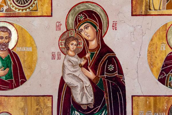 Икона Купятицкой Божией Матери № 02 из камня для храма, на аналой, изображение, фото 7