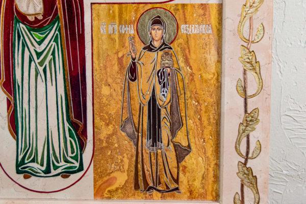 Икона Купятицкой Божией Матери № 02 из камня для храма, на аналой, изображение, фото 8