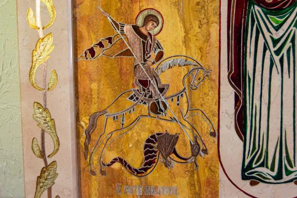 Икона Купятицкой Божией Матери № 02 из камня для храма, на аналой, изображение, фото 9