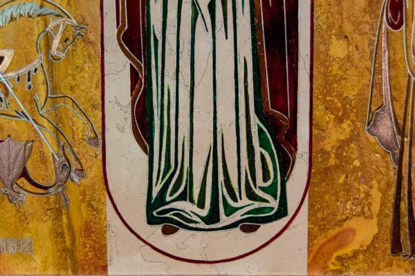 Икона Купятицкой Божией Матери № 02 из камня для храма, на аналой, изображение, фото 10